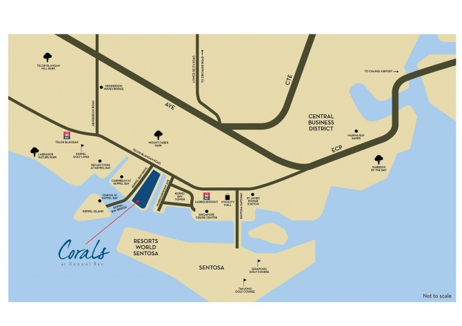 Corals at Keppel Bay - Location Map