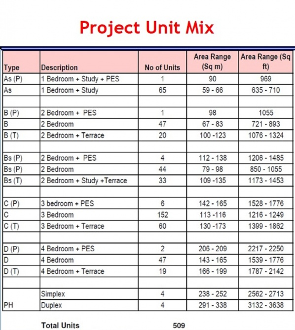 project unit mix1