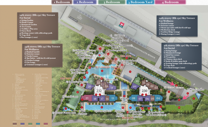 site plan with facilities